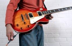 штепсельная вилка гитары Стоковое фото RF