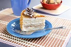 штепсельная вилка плиты чашки торта Стоковые Фотографии RF