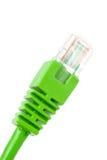 штепсельная вилка сети соединения зеленая Стоковое Фото