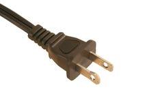 штепсельная вилка шнура электрическая изолированная Стоковое фото RF