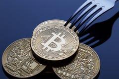 Штепсельная вилка Bitcoin Стоковое Изображение