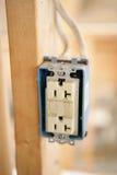 штепсельная розетка крупного плана электрическая Стоковое Изображение