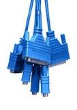 штепсельные вилки кабелей Стоковое Изображение RF