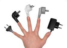 штепсельные вилки руки Стоковые Фотографии RF