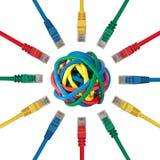 штепсельные вилки системы платного кабельного телевидения шарика указывая к Стоковые Изображения RF