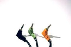 штепсельные вилки 1 8 дюймов 3 провода Стоковая Фотография