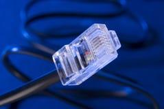 Штепсельная вилка кабеля LAN Стоковое Изображение RF