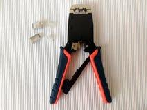 Штепсельная вилка модуля сети гофрируя Стоковые Фото