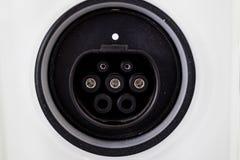 Штепсельная розетка для силы электрического автомобиля Стоковые Фото