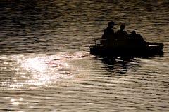 штилевая вода катамарана Стоковая Фотография
