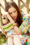 Штилевая девушка Стоковые Фотографии RF
