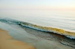 штилевое ясное небо моря вечера Стоковое Фото