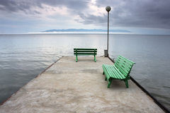 штилевой взгляд шторма озера Стоковая Фотография