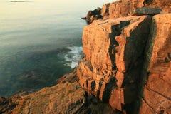 штилевой восход солнца выдры скал Стоковое фото RF