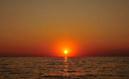 штилевой заход солнца Стоковая Фотография