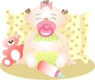 штилевой спать девушки малый Стоковые Фото