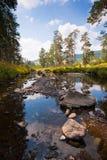 штилевые утесы реки горы ландшафта Стоковое фото RF