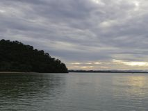 Штиль на море в небе утра Стоковая Фотография