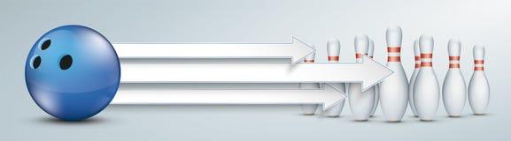 3 штифта с полукруглой головкой боулинга стрелок голубых бесплатная иллюстрация