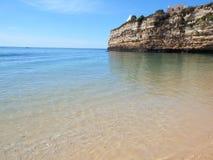Штиль на море на пляже Стоковая Фотография