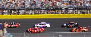 шток американского автомобиля nascar участвуя в гонке Стоковое фото RF