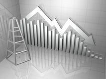 шток буровой вышки рынка диаграммы Стоковые Фото