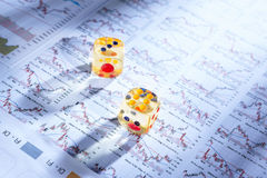 шток обменом играя в азартные игры Стоковое фото RF