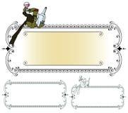 шток померанца иллюстрации предпосылки яркий Лягушка в смокинге, с стеклом и бутылкой Стоковые Фотографии RF