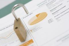 шток портфолио padlock рынка диаграммы открытый Стоковое Фото