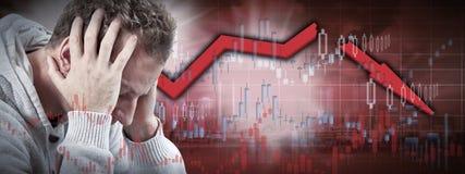 шток рынка аварии стоковые изображения rf
