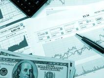 шток рынка анализа Стоковое Изображение RF