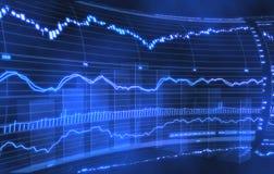 шток рынка диаграммы Стоковая Фотография RF
