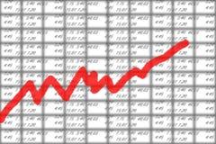 шток рынка диаграммы Стоковые Изображения