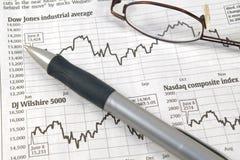 шток рынка диаграмм Стоковая Фотография