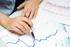 шток рынка диаграмм Стоковые Фото