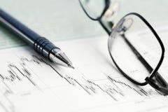 шток рынка диаграмм диаграмм Стоковое Изображение RF