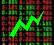 шток рынка обменом идя вверх Стоковое Изображение