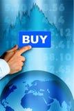 шток рынка тенденцией к повышению курсов Стоковое Изображение