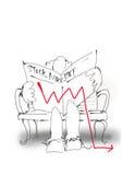 шток рынка 2 пикирований стоковые фотографии rf