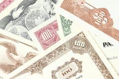 шток сертификатов Стоковая Фотография