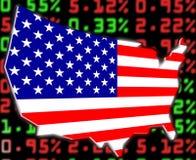 шток США валютного рынка Стоковые Изображения