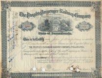 шток 3 сертификатов старый Стоковые Фото