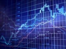 шток snd карандаша рынка диаграммы спусков монеток красный поднимает Стоковые Фотографии RF