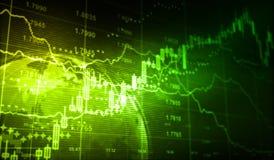 шток snd карандаша рынка диаграммы спусков монеток красный поднимает Стоковые Изображения