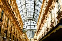 Штольн Vittorio Emanuele II Милан, Италия стоковая фотография rf