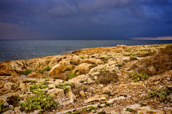 Штормовая погода на море Стоковое фото RF