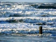 Шторм в феврале на Нидерландах Стоковые Изображения RF