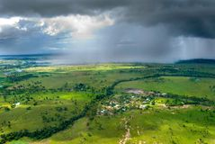 шторм горизонта стоковые изображения rf