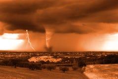 шторм города стоковое фото
