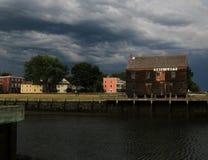 Шторм лета причаливая в Новой Англии Стоковое Изображение